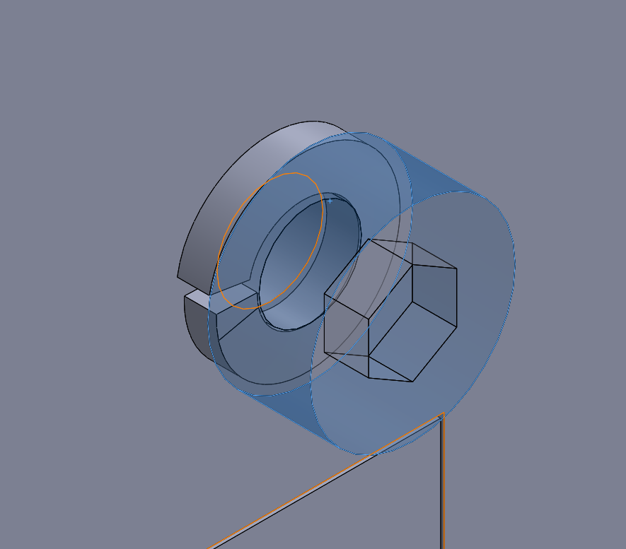 My crude spring-washer model for all CAD testing / simulation.