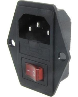 Panel Mount IEC Socket with Switch and Fuse Holder